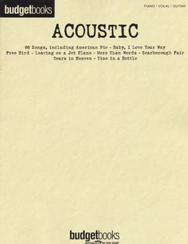 Budgetbooks Acoustic