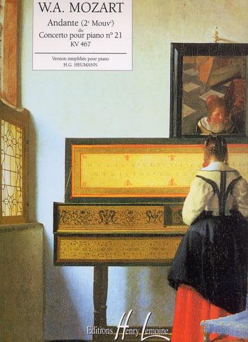 Mozart, Wolfgang Amadeus : Andante du Concerto n° 21 KV 467