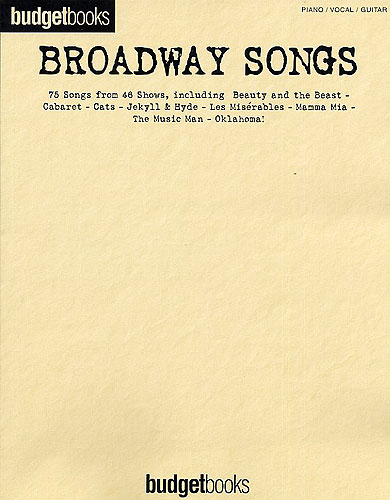 Budgetbooks: Broadway Songs