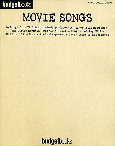 Budgetbooks: Movie Songs