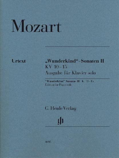 Mozart, Wolfgang Amadeus : Wunderkind Sonatas Volume II K. 10-15