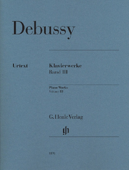 Debussy, Claude : Oeuvres pour piano, volume III