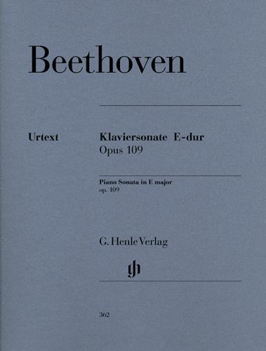 Sonate pour piano en mi majeur Opus 109 / Piano Sonata in E Major Opus 109 (Beethoven, Ludwig van)