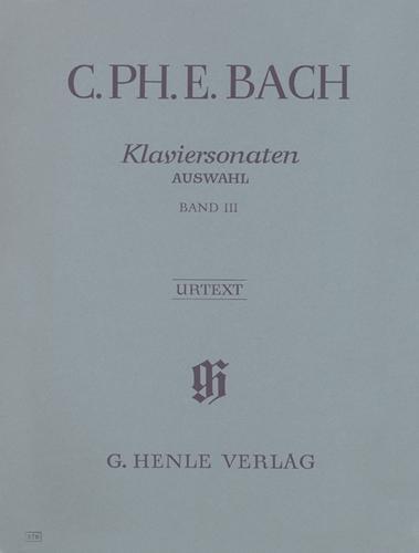 Sonates pour piano, Sélection - Volume 3 / Piano Sonatas, Selection - Volume 3 (Bach, Carl Philipp Emanuel)