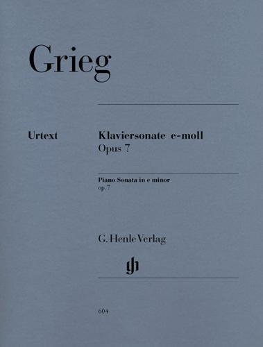 Sonate pour piano en mi mineur Opus 7 / Piano Sonata in E minor Opus 7 (Grieg, Edward)
