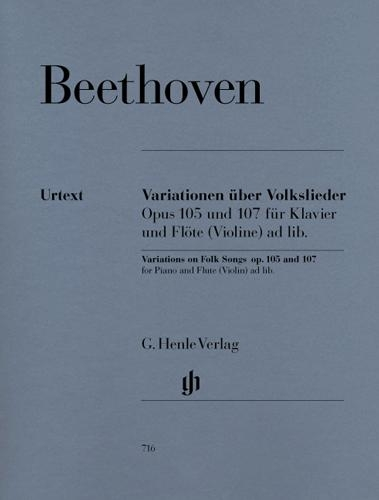 Variations on Folk Songs for Piano and Flute (Violin) ad lib. Opus 105 and 107 (Beethoven, Ludwig van)