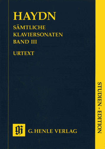 Edition intégrale des Sonates pour piano- Volume III / Complete Piano Sonatas - Volume III (Haydn, Josef)