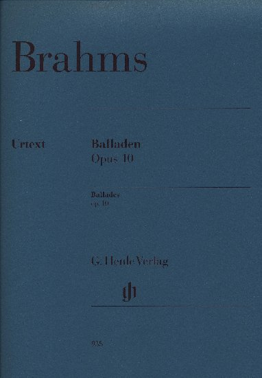 Brahms, Johannes : Ballades Opus 10