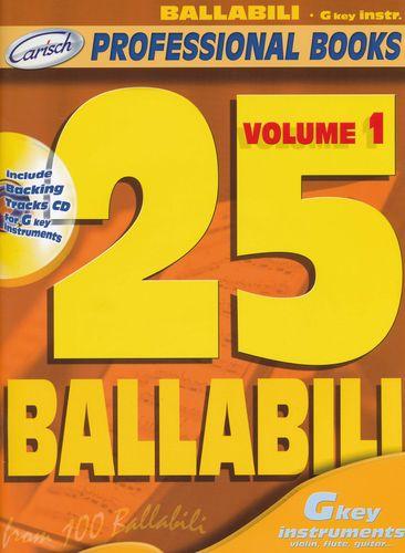 Divers : 25 ballabili, volume 1 (instruments en clé de sol)