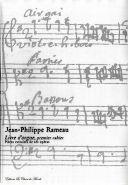Rameau, Jean-Philippe : Livre d'Orgue - Premier cahier