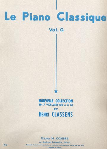 Classens, Henry : Le Piano Classique - Volume G Voix Maîtres Tchèques   Polonais