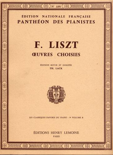 Liszt, Franz : Classiques Favoris - Volume 9 B