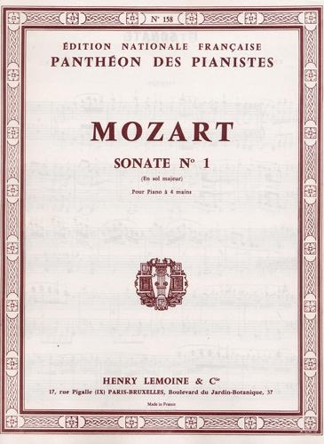 Mozart, Wolfgang Amadeus : Sonate n° 1 en sol majeur