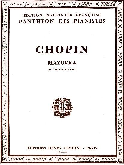Chopin, Frédéric : Mazurka en la mineur Opus 7 n° 2