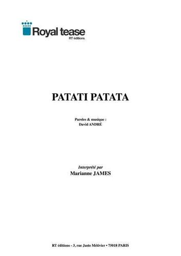Marianne James / André, David : Patati Patata