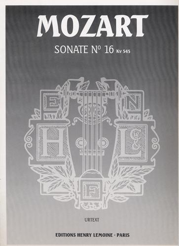 Mozart, Wolfgang Amadeus : Sonate n° 16 en ut majeur KV 545 (Sonate facile)