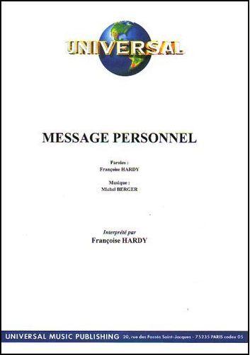 Hardy, Françoise / Berger, Michel : Message Personnel