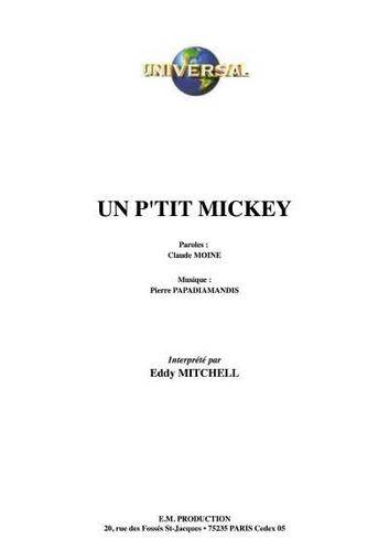 Mitchell, Eddy / Moine, Claude / Papadiamandis, Pierre : Un Peti' Mickey