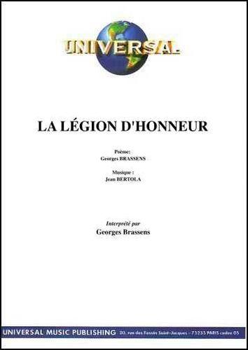 Brassens, Georges / Bertola, Jean : La Legion D'Honneur