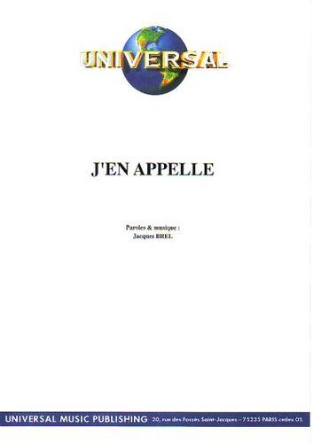 Brel, Jacques : J'En Appelle
