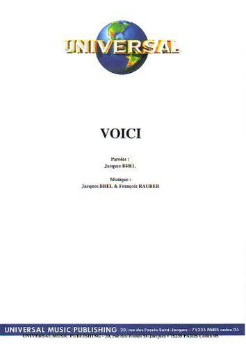 Jacques Brel : Voici