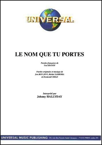 Hallyday, Johnny : Le Nom Que Tu Portes