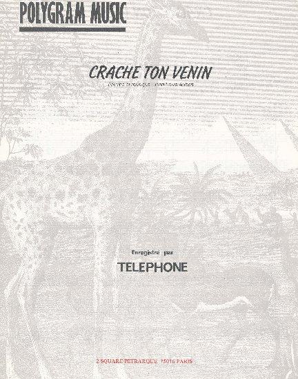 Aubert, Jean-Louis : Crache Ton Venin