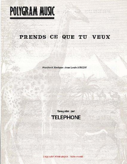 Aubert, Jean-Louis : Prends Ce Que Tu Veux