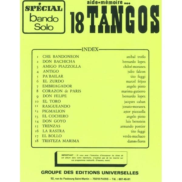 Aide Mémoire – 18 Tangos Spécial Bando Solo