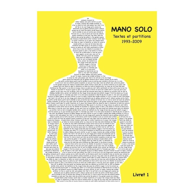 Mano Solo : Mano Solo : Livret Vol.1