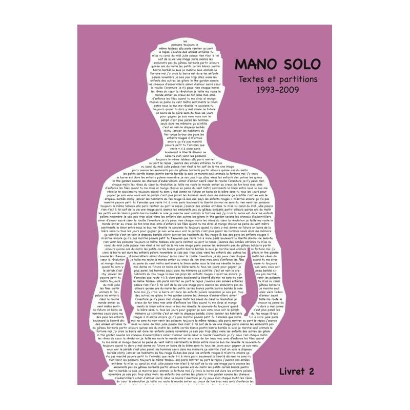 Mano Solo : Mano Solo : Livret Vol.2