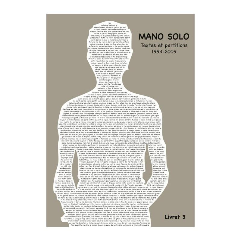 Mano Solo : Mano Solo : Livret Vol.3