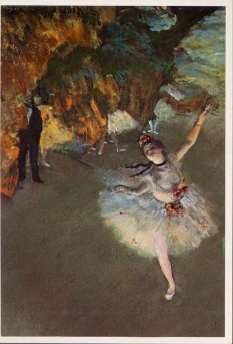 Carte Postale d\'Art `Etoile ou La Danseuse sur la Scène`