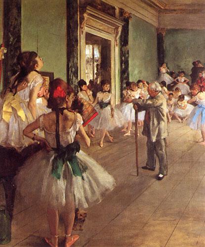 Carte Postale d\'Art `La Classe de Danse`