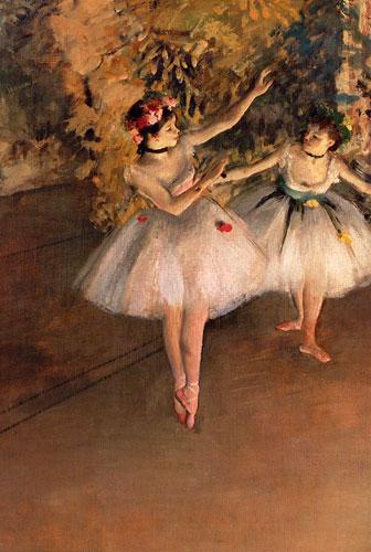 Carte Postale d\'Art `Deux Danseuses sur la scène`