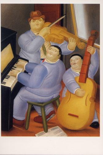 Carte Postale d\'Art `Trois Musiciens`
