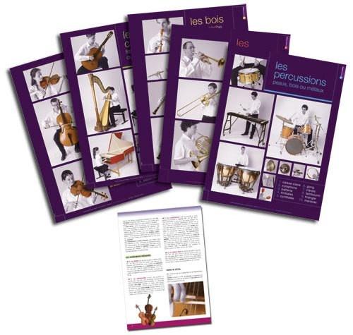 Serie De 5 Posters Familles D\'Instruments