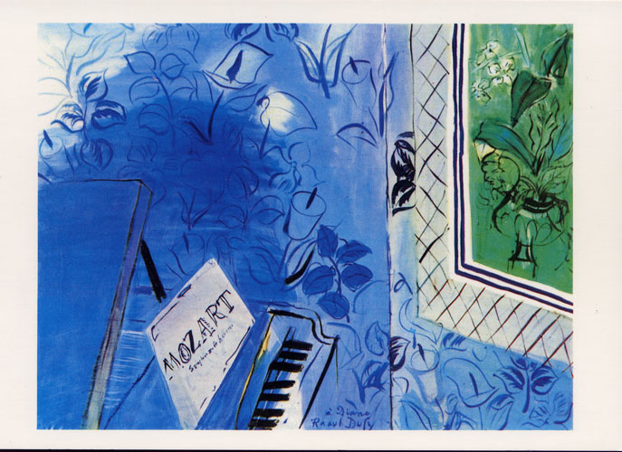 Carte Postale d\'Art `Le Mozart Bleu`