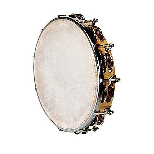Tambourin Peau Naturelle 25 Cm   18 Cymbalettes