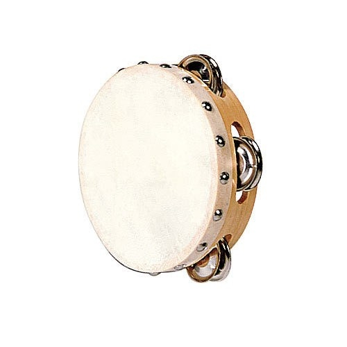 Tambourin Peau Naturelle 15 Cm   8 Cymbalettes