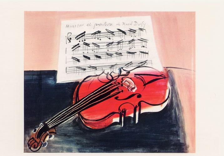 Carte Postale d\'Art `Le Violon rouge`