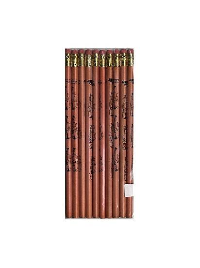 Pencil (Pack Of 10): Violin (Natural Wood)