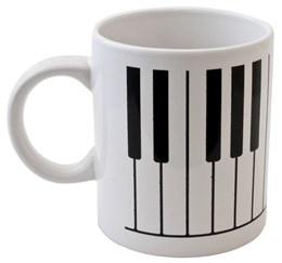Tasse à Café - Touche de Piano (Blanche)