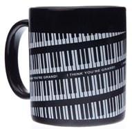 Tasse à Café - Touche de Piano (Noire)