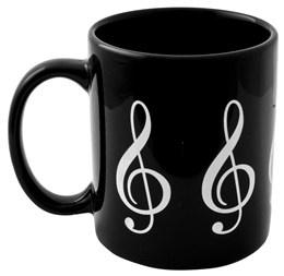 Tasse à Café - Clé de Sol (Noire)