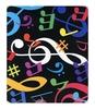 Tapis de souris : Notes multicouleurs [Mouse Mat : Music Note Multi Color]