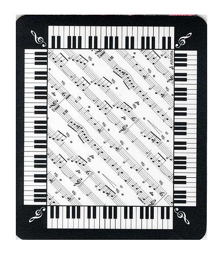 Tapis de souris : Partition, Touche de Piano [Mouse Mat : Keyboard Sheet Music]