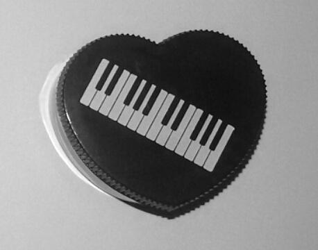 Taille crayons Piano Noir en Forme de Coeur [Single Piano Shaped Pencil Sharpener Heart Shape Black]