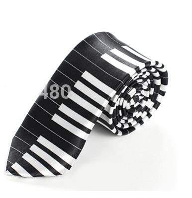 Cravate - Touches de Piano Noir [Tie - Keyboard Black]