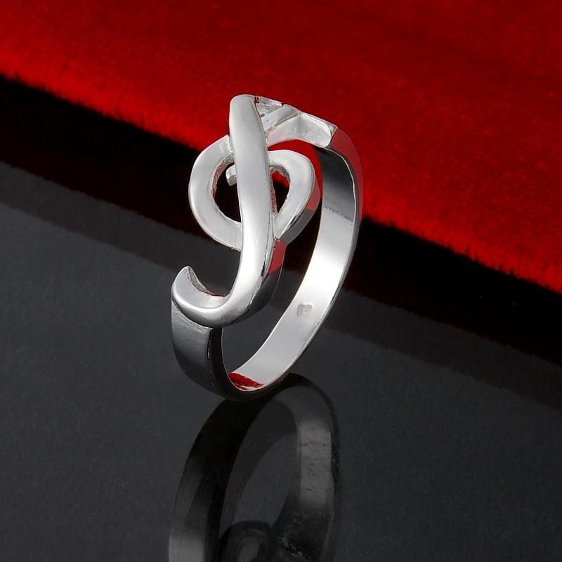 Bague Argent Massif - Clé de Sol - Taille 9 [Silver Ring - G Key - Size 9]